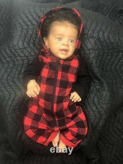 Reborn Yannick Limited Edition 22 Bi-Racial Baby Doll By Natali Blick