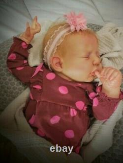 Reborn baby. Extremely realistic. Vinyl head and limbs, cloth body. Ll
