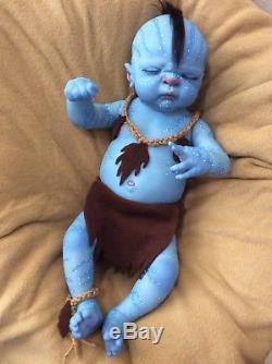 Reborn baby boy Avatar, full body, 20 inches