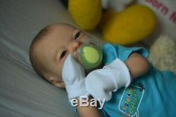 Reborn baby doll Sculpt Realborn Darren Awake by Artist Kelly Campbell