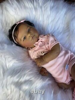 Reborn baby doll ana biracial baby super cute
