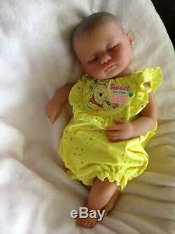 Reborn baby girl solid silicone 15 4 lb by Orange Blossom Nursery