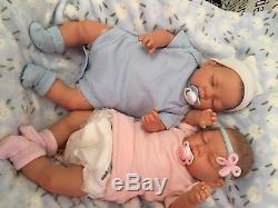 Reduced Price REBORN TWINS BABY Boy & Girl Child friendly doll cute Babies
