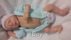 SALE SOLE Realistic Realborn Reborn Baby Boy Preemie Thomas Asleep withplate