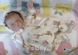 Silicone Baby Girl, Olive, Partial Silicone, Cloth Body, Realistic, Floppy