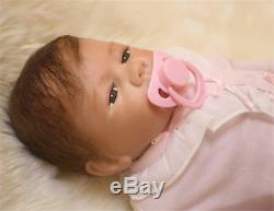 Silicone Reborn Baby Girl Boy Dolls Lifelike Collectible Full Handmade Newborn