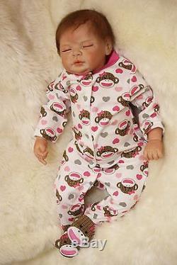 Silicone Reborn Baby doll soft vinyl Newborn Lifelike Rea Full Handmade 22