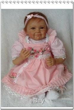 Silicone Viniy Real Reborn Baby Dolls 22 Inch Pacifier Lifelike Kids Newborn
