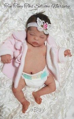 Silicone baby quinlynn soft signed body by laura lee eagles not reborn doll