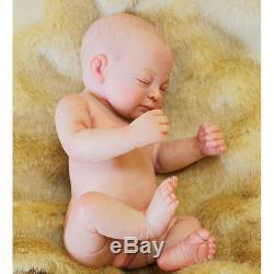 Sleeping 11-inch Full Platinum Silicone Reborn Baby Doll Realistic Girl Doll US