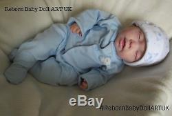 Sleeping Reborn Baby BOY doll #RebornBabyDollArtUK