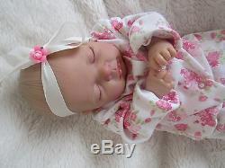 Sleeping newborn reborn baby girl doll #RebornBabyDollArtUK