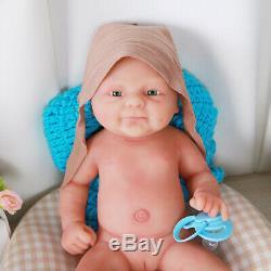 Smile Girl Soft Dolls 14 Lifelike Silicone Reborn Baby Vivid Doll Xmas Gift