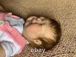 Sole 15 Inch Preemie Full Body Silicone Baby Girl Doll Rowan By Kimbrydolls