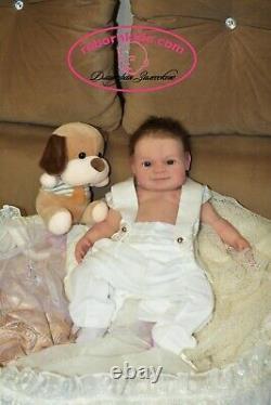 Solid Silicone Body Newborn Reborn Baby Smile Boy Reborn Doll Drink Wets Diaper