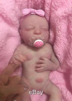 Solid Silicone Full Body Reborn Baby Carlotta. Eco 20 Holds your Finger. Peek