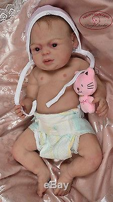 Solid silicone baby toddler girl (reborn doll) all body. Drink & pee. Ecoflex 30
