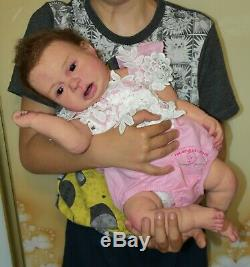 Solid silicone baby toddler girl (reborn doll) all body Drink & pee Handmade eye