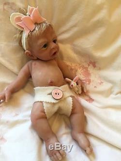 Solid silicone full body baby girl Rain sculpted by Dawn Bowie eco 20