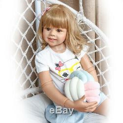 Standing Reborn Toddler Girl Dolls 39 Large Toddler Baby Vinyl Masterpiece Doll
