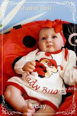 Studio-Doll Baby Reborn ladybug GIRL YANUSHA by LINDE SCHERER ultra reality