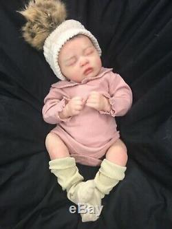 Stunning Toddler Reborn Baby Girl Fake Baby Painted Hair Skyla