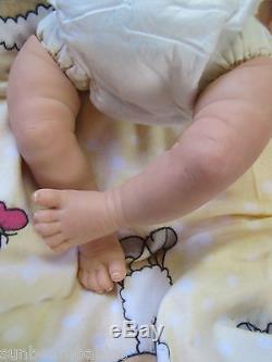 Sunbeambabies Lifelike Child Safe Reborn Fake Baby Girl, Newborn Doll Realistic