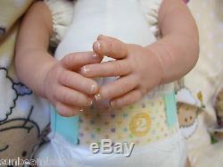 Sunbeambabies New Reborn Realistic Newborn Size Fake Baby Girl Doll Life Like