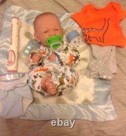 Sweet Baby Boy Preemie 14 Reborn Berenguer Boy Doll W One Set Of Clothing
