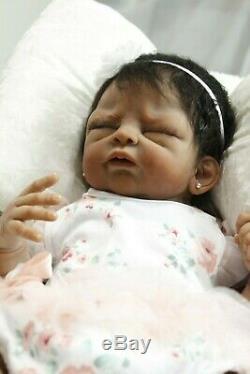 Tea Full Body Solid Silicone AA/Ethnic/Biracial booboo baby girl Tasha Edenholm