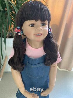 Toddler Baby Girl Long Hair Masterpiece Doll 39 Large Reborn Dolls Child Model