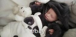 Tracyslittletreasures REALBORN James 18 small NB anatomical Boy tummy plate