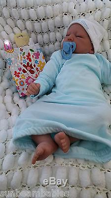 Very Low Stock Sunbeambabies Child`s Reborn Baby Doll & Free Gift Bag