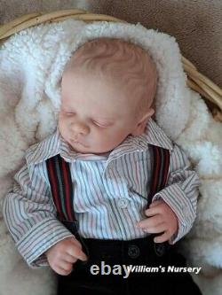 WILLIAMS NURSERY REBORN BABY BOY DOLL Realborn Christopher Asleep NEWBORN belly