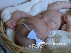 WILLIAMS NURSERY REBORN BABY GIRL DOLL Realborn Alma Sleeping REALISTIC NEWBORN