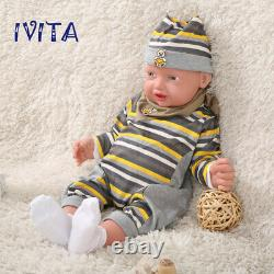 Xmas Special Price 23 Realistic Full Body Soft Silicone Newborn Male Baby Doll